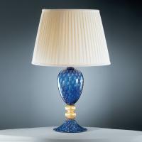 Настольная лампа Vetri Lamp 97 Blu/Oro 24 kt. Completo