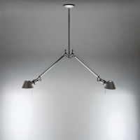 Подвесной светильник Artemide Tolomeo Sospensione 2 Bracci Alluminio A036400