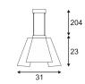 Подвесной светодиодный светильник SLV Soberbia 31 165441