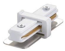 Соединитель для 2-х шинопроводов прямой внутренний (10573) Volpe UBX-Q121 K11 WHITE