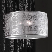 Подвесной светильник Masca Cashmere 1868/3 Argento/Glass 587