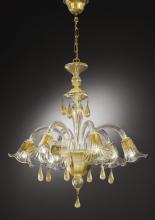 Люстра Vetri Lamp 1182/6 Cristallo/Oro