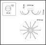 Потолочная светодиодная люстра Odeon Light Gia 4027/96CL