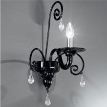 Бра Vetri Lamp 1185/A1 Nero/Gocce cristallo