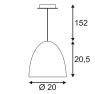 Подвесной светильник SLV Para Cone 20 133008