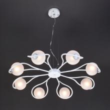 Подвесная люстра Eurosvet Camomile 70089/8 белый с серебром