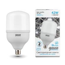 Лампа светодиодная E27 42W 4000K матовая 63224