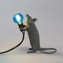 Seletti 14938 MOUSE STANDING grey лампа настольная мышка серая
