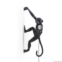 Seletti 14919 DX hang MONKEY OUTDOOR black настенный светильник обезьяна черная ПРАВЫЙ