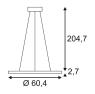Подвесной светодиодный светильник SLV Led Panel Round 158623