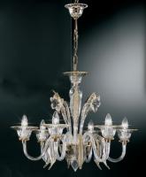 Люстра Vetri Lamp 301/6 Cristallo/Ambra