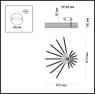 Потолочная светодиодная люстра Odeon Light Stello 4028/64CL