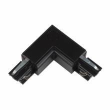 Соединитель для шинопроводов L-образный внутренний (09766) Uniel UBX-A22 Black
