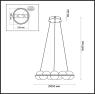 Подвесная светодиодная люстра Odeon Light Conti 4105/64L