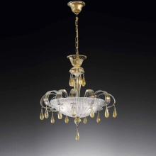 Подвесной светильник Vetri Lamp 1183/S55 Cristallo/Oro 24 Kt.