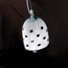 Подвесной светильник Voltolina JACARANDA Sosp. pendel acciaio MEG BLACK & WHITE