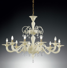 Люстра Vetri Lamp 1185/10 Avorio/Gocce cristallo