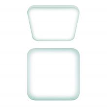Потолочный светодиодный светильник (UL-00003372) Uniel ULI-B312 22W/NW/28 Quatro