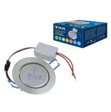 Встраиваемый светодиодный светильник (UL-00003243) Volpe ULM-Q262 3W/WW IP65 SILVER