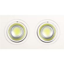 Встраиваемый светодиодный светильник Horoz 2X5W 2700К белый 016-021-0010 (HL6702L)