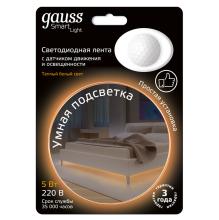 Светодиодная лента Gauss 1,2M теплый белый 5W 311011105