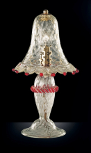 Настольная лампа Vetri Lamp 923/L Cristallo/Oro 24Kt/Rosso