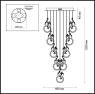 Подвесная светодиодная люстра Odeon Light Fiuggi 4036/54L