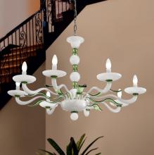 Люстра Vetri Lamp 1171/8 Bianco/Verde oliva