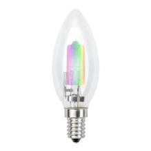 Лампа галогенная (01089) E14 42W радужная HCL-42/RB/E14 candle