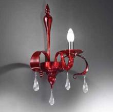 Бра Vetri Lamp 1184/A1 Rosso/Gocce cristallo