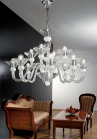 Люстра Vetri Lamp 1153/8+4 Cristallo/Bianco