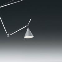 Подвесной светильник Artemide Tolomeo sospensione decentrata - Diffusore alluminio 0629000A + 0371050A
