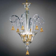 Подвесной светильник Vetri Lamp 90/S Cristallo/Ambra