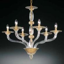 Люстра Vetri Lamp 1004/6 Cristallo/Oro 24 Kt.