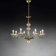 Люстра Vetri Lamp 1201/8 Verde scuro/Oro 24 Kt.