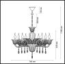 Подвесная люстра Odeon Light Ninfea 3950/8