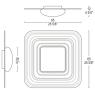 Настенно-потолочный светильник Leucos CORA 65 P-PL PLATINO 0504127363302