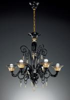 Люстра Vetri Lamp 972/6 Nero/Oro