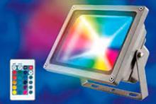 Прожектор светодиодный (UL-00000782) Uniel ULF-S01-20W/RGB/RC IP65 110-240В