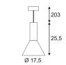 Подвесной светильник SLV Phelia PD-S 133300