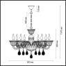 Подвесная люстра Odeon Light Ninfea 3930/8