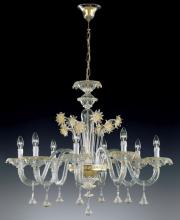 Люстра Vetri Lamp 922/8 Cristallo/Oro 24Kt
