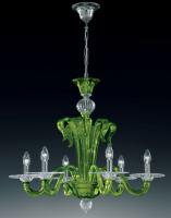 Люстра Vetri Lamp 924/6 Verde oliva/Cristallo