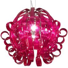 Подвесной светильник Voltolina Medusa 4L ROSSO cromo