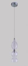 Подвесной светильник Crystal Lux Iris SP1 B Transparent