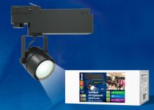 Трековый светодиодный светильник (UL-00002398) Uniel ULB-M08H-24W/NW Black