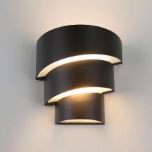 Уличный настенный светодиодный светильник Elektrostandard 1535 Techno LED Helix черный 4690389116032