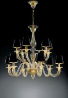 Люстра Vetri Lamp 1151/6+6 Bianco/Cristallo/Nero