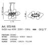 Люстра IDL nuvola Art. 372/6S