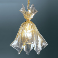 Подвесной светильник Vetri Lamp 93/S28 Cristallo/Oro